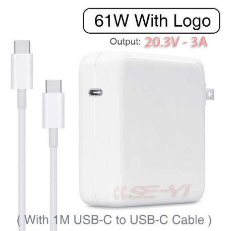 Adaptor Apple Macbook Model A1718 USB Type-C 61Watt For MacBook iPad iPhone